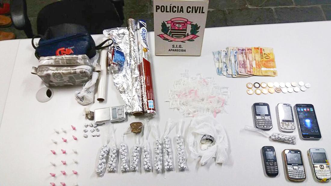 Material apreendido pela Polícia em Aparecida (Polícia Civil)