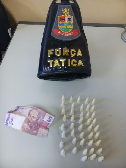 Droga apreendida em operação da Força Tática (Divulgação / PM)