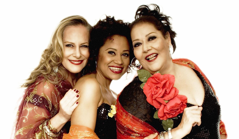"""Lucinha Lins, Célia e Virgínia Rosa, que estrelam """"Na Batucada da Vida"""", que chegam a Pindamonhangaba (Divulgação)"""