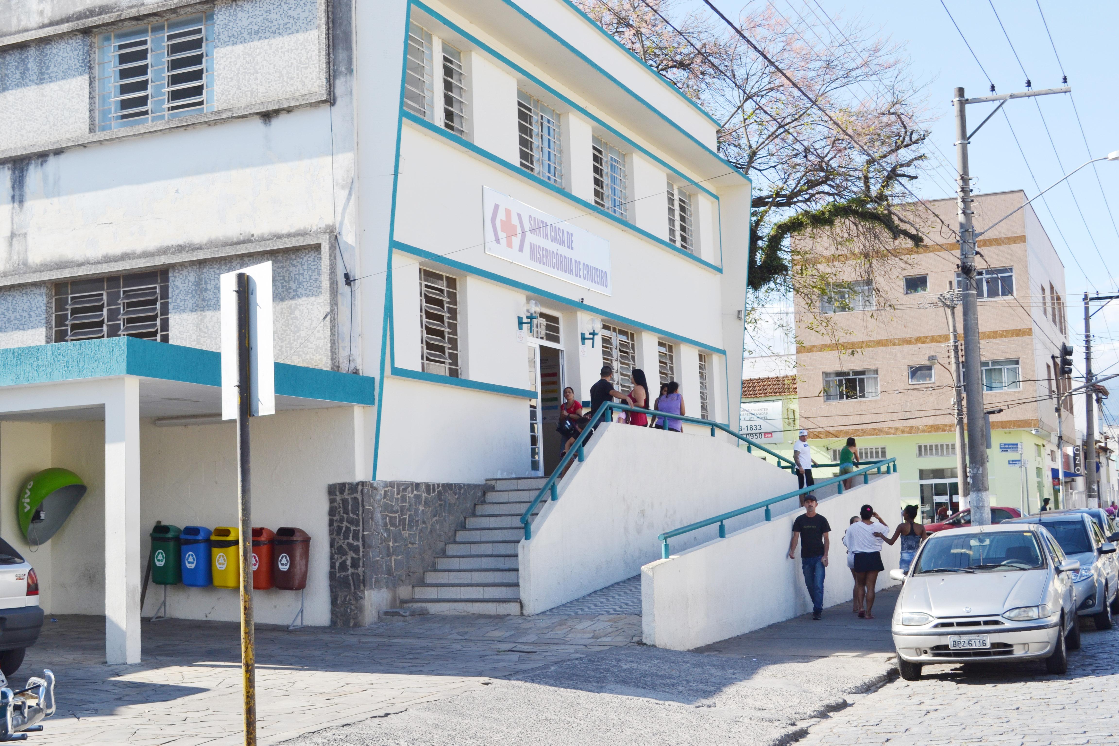 A Santa Casa de Cruzeiro, centro da crise que assola a rede pública de saúde da região (Foto: Arquivo Atos)