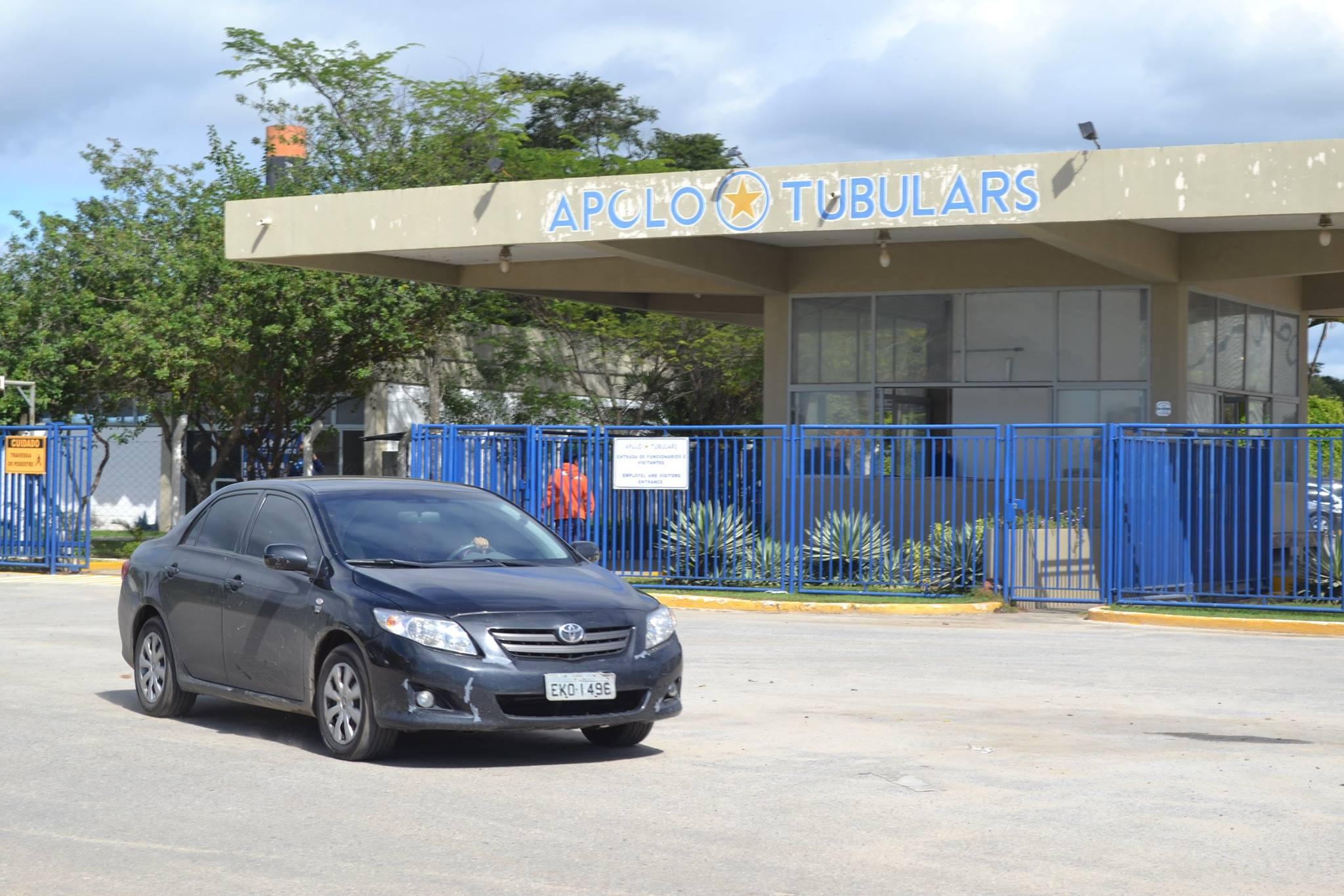 A Apolo Tubulars em Lorena, empresa alvo de investigação da Operação Lava Jato (Foto: Thiago Rocha)
