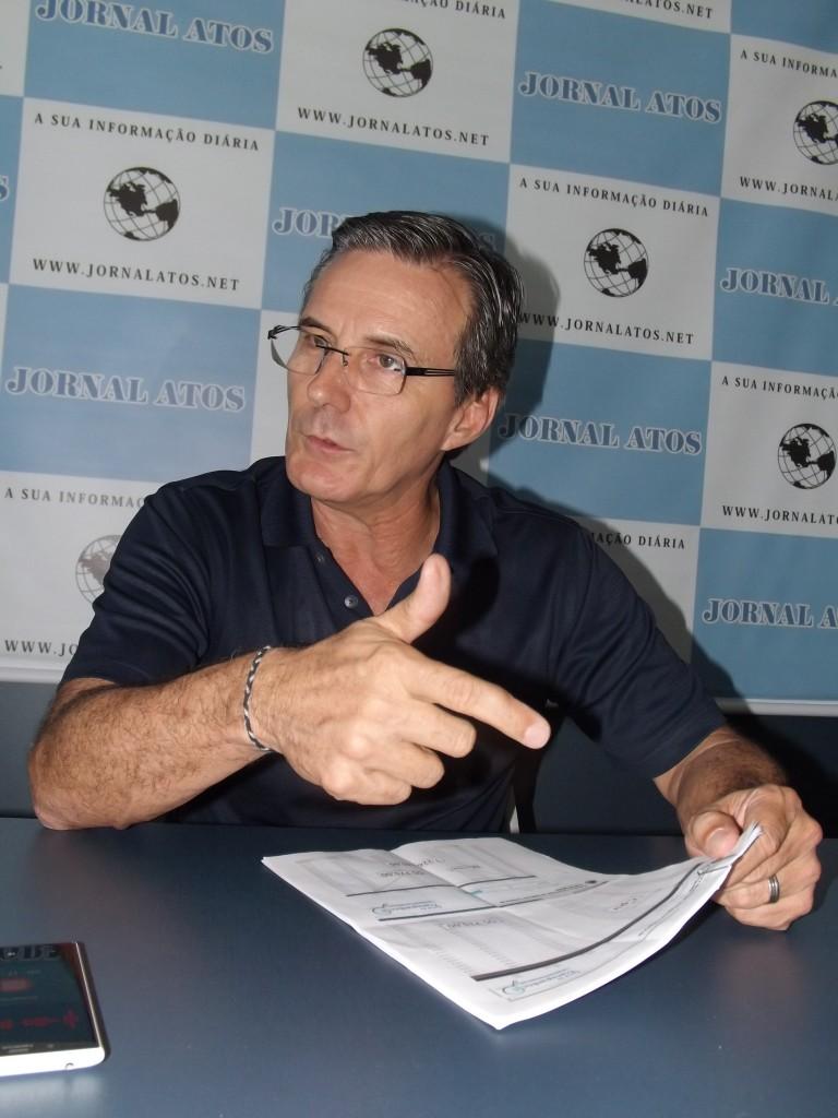 O vereador Marcus Soliva, que cobra resposta sobre o caso de medicina ilegal e falsidade ideológica (Foto: Arquivo Atos)