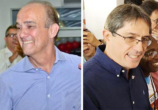 Fábio Marcondes e Sylvio Ballerini; vitórias no TRE mantém campanhas pelo Executivo nas ruas de Lorena (foto: Reprodução)