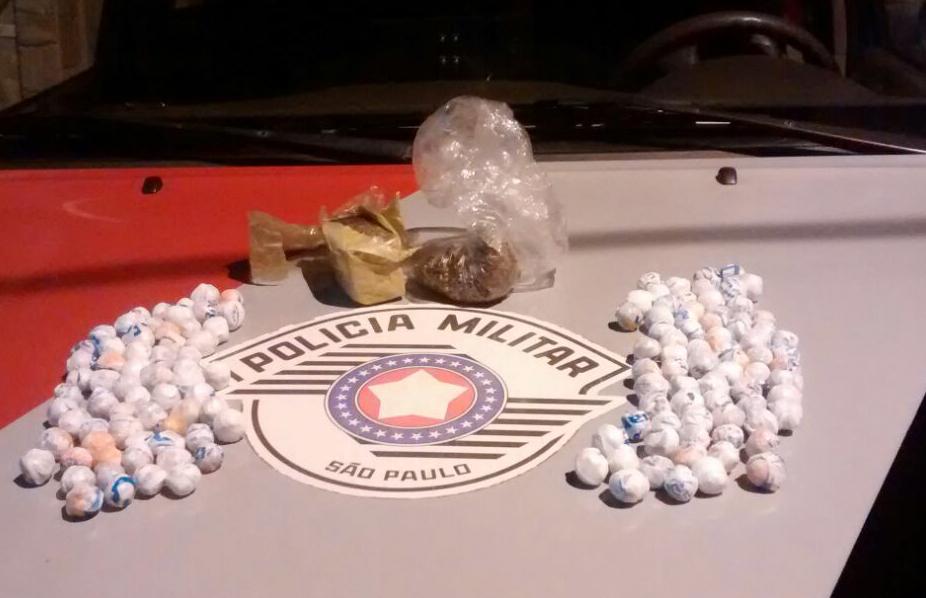 Droga apreendida pela Policia Militar no último domingo em Lorena (Fto: Divulgação PM)