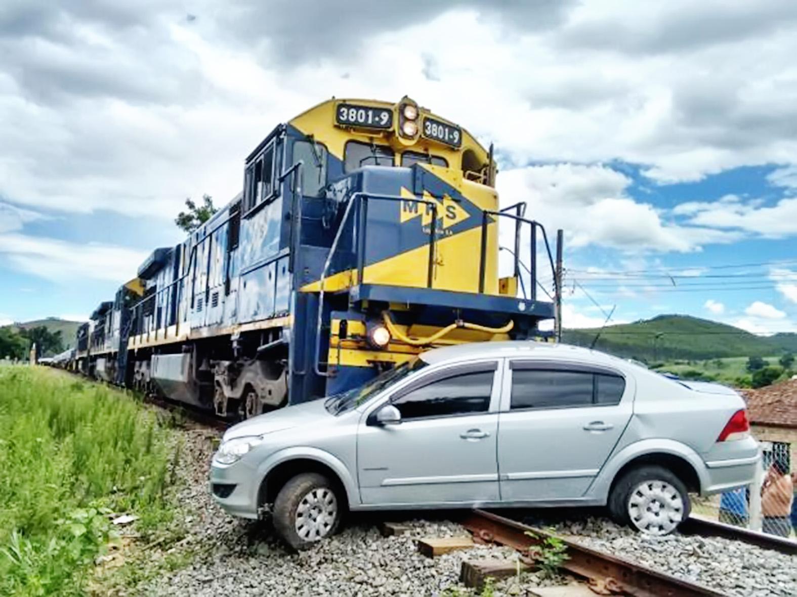 Acidente de trem em Canas; campanha da MRS tenta evitar novas ocorrências em cidade da região (Foto: Arquivo Atos)