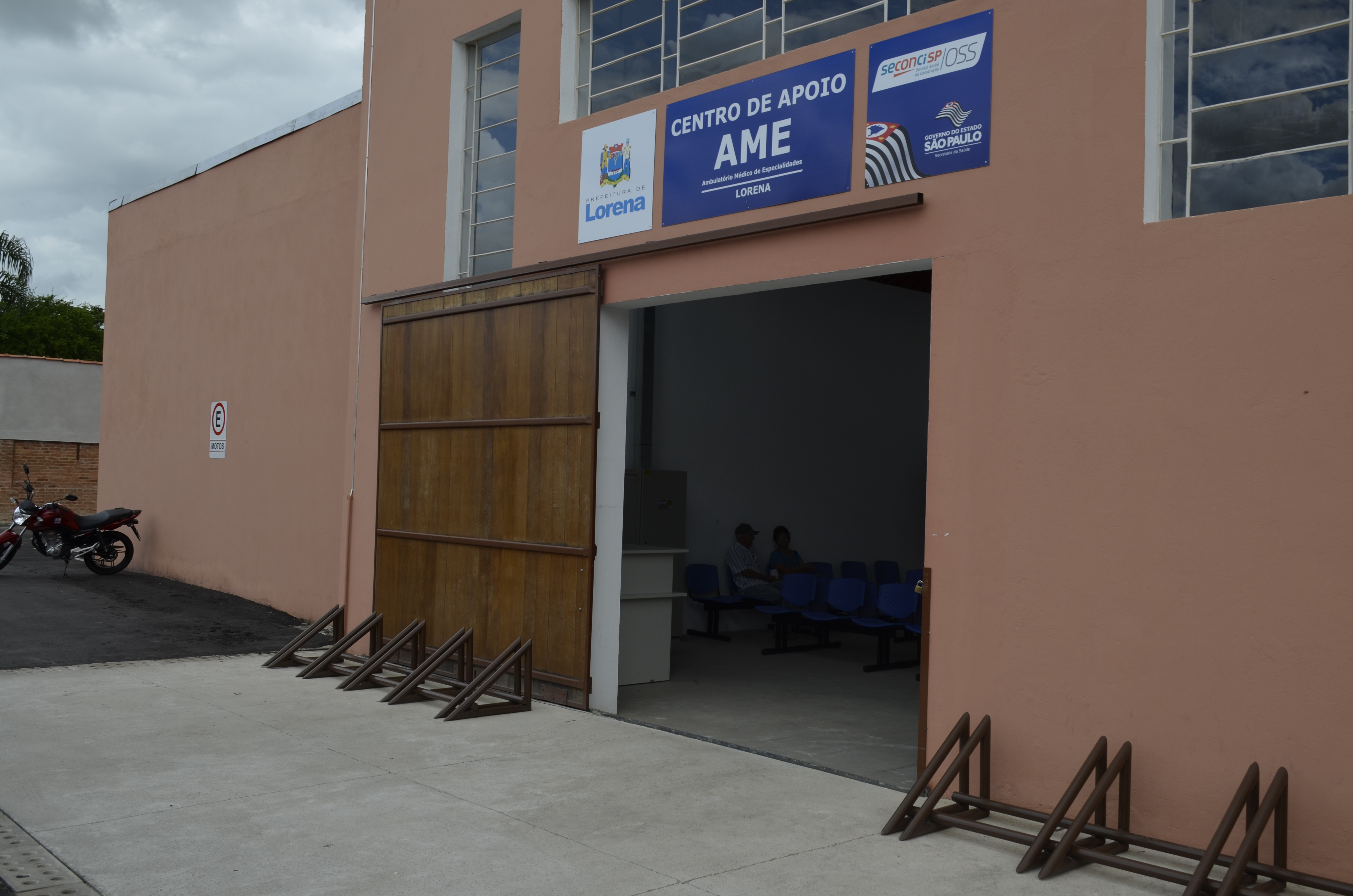 Área do Mercado Municipal disponibilizada para o Centro de Apoio ao AME (Foto: Estéfani Braz)