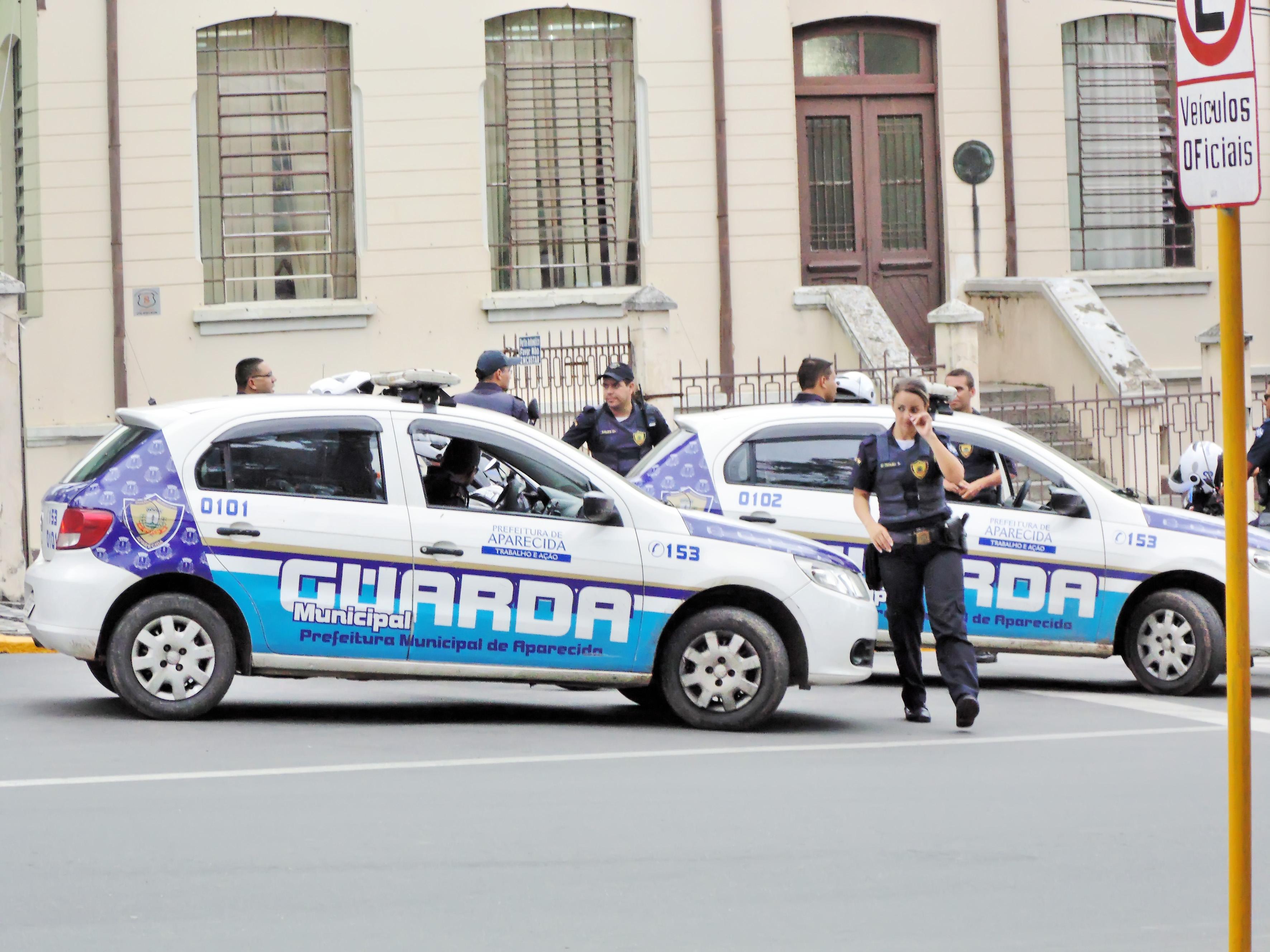 Guarda municipal de Aparecida durante ronda pela região central da cidade; apoio popular ampliado  (Foto: Arquivo Atos)