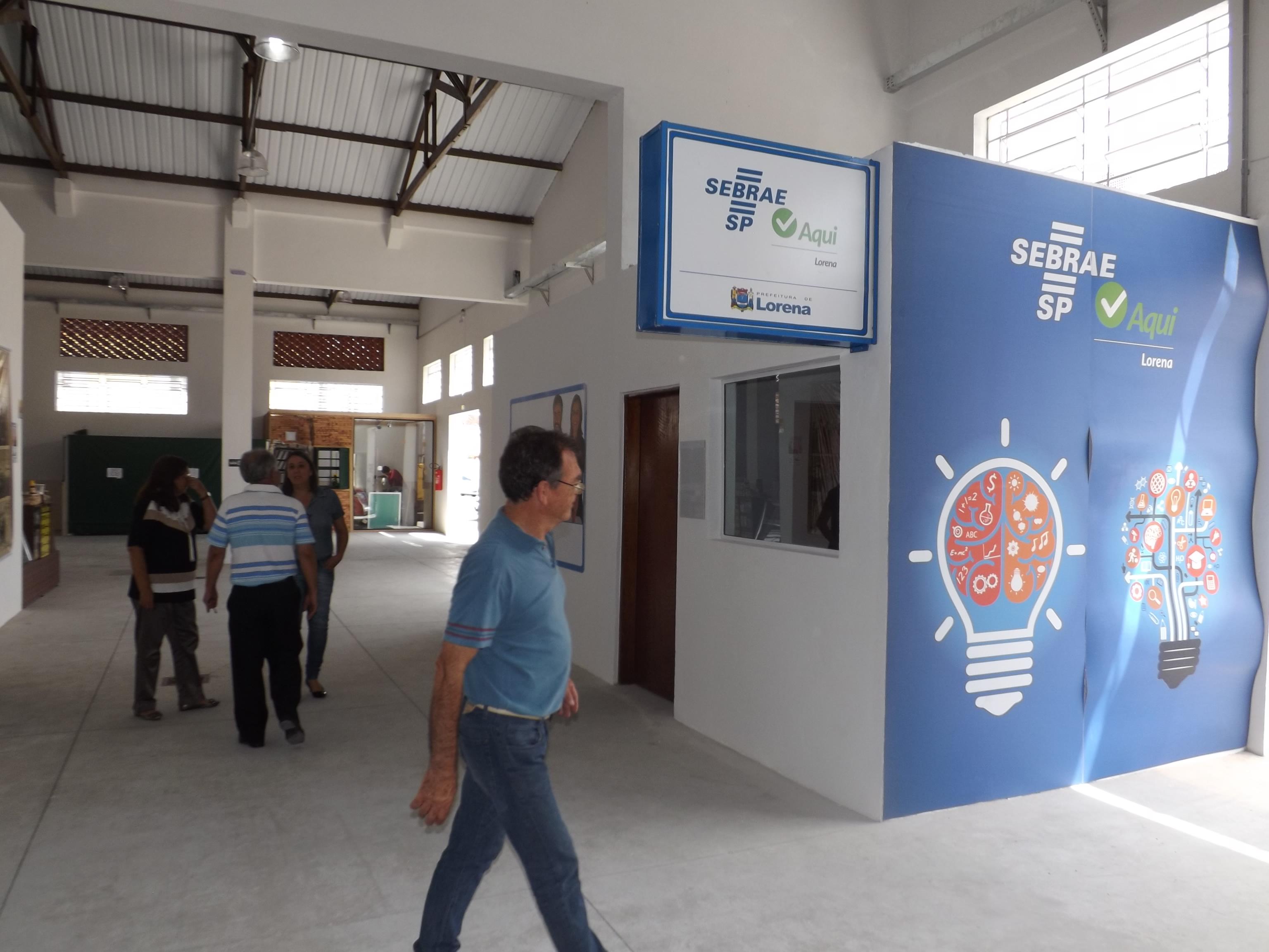 Unidade de atendimento do Sebrae no Mercado Municipal de Lorena; cidade inicia projeto de incentivo a startups (Foto: Arquivo Atos)