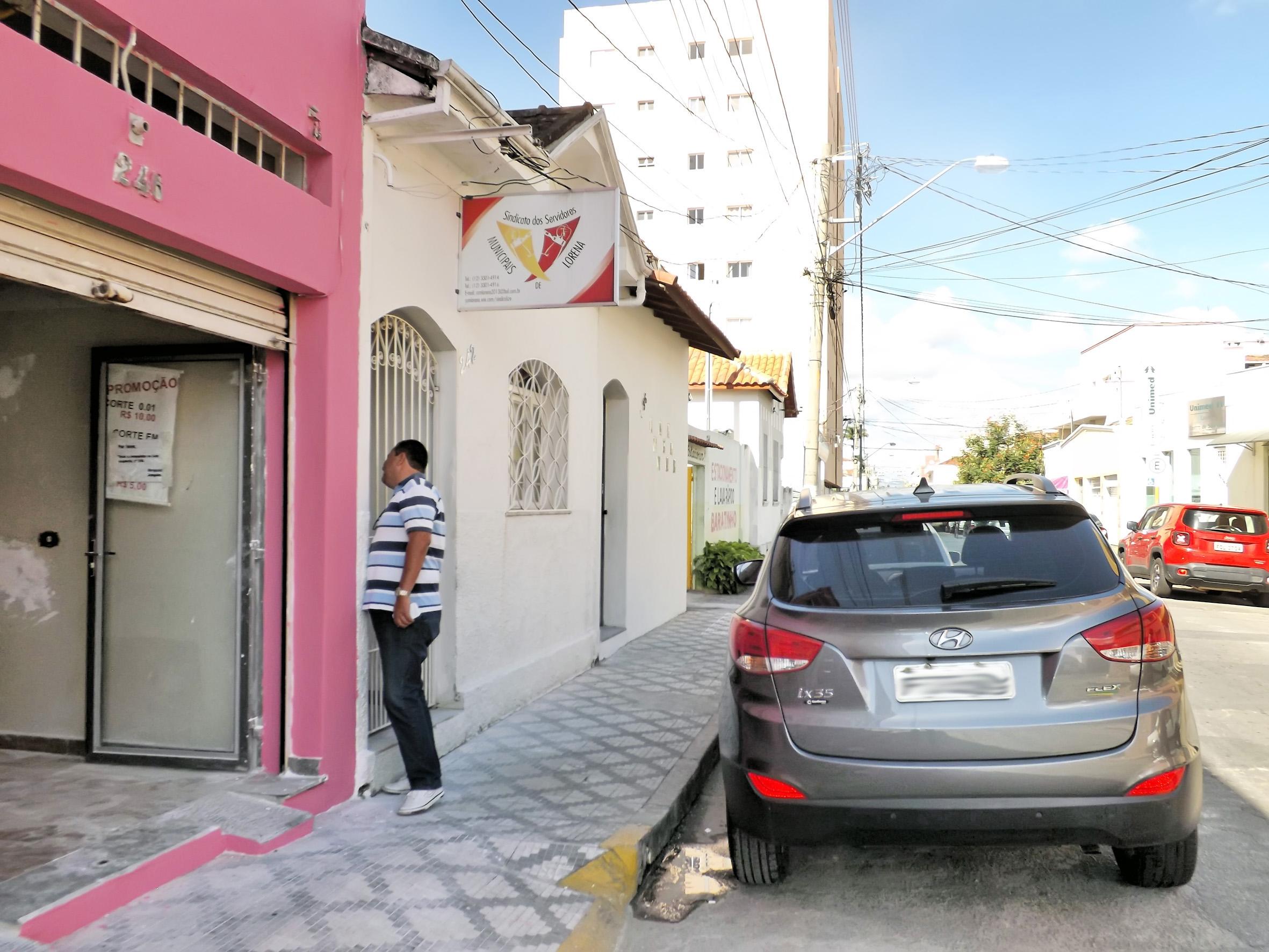 A sede do Sindicato dos Servidores de Lorena, que teve eleição paralisada por novo processo judicial (Foto: Lucas Barbosa)