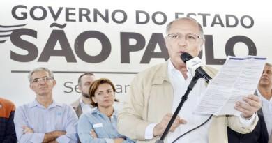 """O governador Geraldo Alckmin, durante apresentação de programa estadual """"Mulheres do Peito"""" e entrega do Pronto Atendimento em Piquete (Foto: Leandro Oliveira)"""