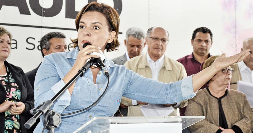 A deputada federal Pollyana Gama, que destacou o repasse de valores (Foto: Leandro Oliveira)