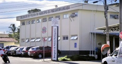 A Delegacia Municipal de Pindamonhangaba, para onde foi levado o acusado por série de estupros (Foto: Arquivo Atos)