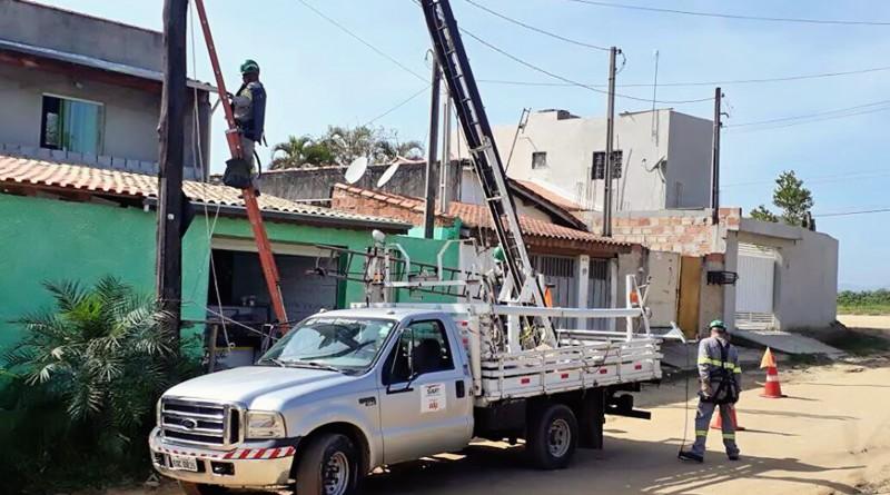 Projeto de expansão de luminárias prevê a colocação de 184 braços de iluminação pelos bairros de Potim (Foto: Divulgação)