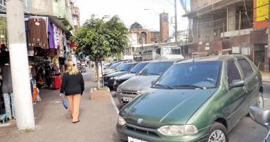Centro de Aparecida; cidade passa a contar com cobrança em vagas de estacionamentos para veículos (Foto: Arquivo Atos)