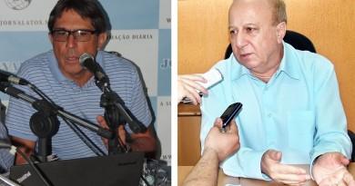 O ex-prefeito Paulo Neme (à esquerda),que tem contrato com instituto de pesquisa investigado na cidade; atual prefeito Fábio Marcondes assumiu dívida de R$370 mil em 2013 (Foto: Arquivo Atos)