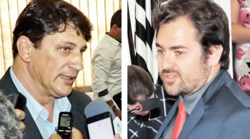 O prefeito Isael Domingues e o vereador Fábio Goffi, opostos na política de Pindamonhangaba, em meio a nova CEI, que investiga IPTU (Fotos: Arquivos Atos)