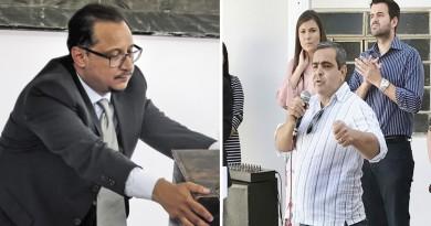 Os vereadores Paulo Vieira e Sandro Felipe; votação sobre vale-alimentação é seguida de denúncia de retaliação após demissão de rádio (Foto: Arquivo Atos)