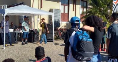 Apresentação do grupo Ocsob de Barra Mansa-RJ, uma das atrações do Tamo Junto, no último domingo (Foto: Lucas Barbosa)