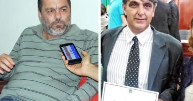 O prefeito Guilherme Carvalho, que criticou decisão de vereadores, como Marco Aurélio (Fotos: Arquivo Atos e Reprodução)