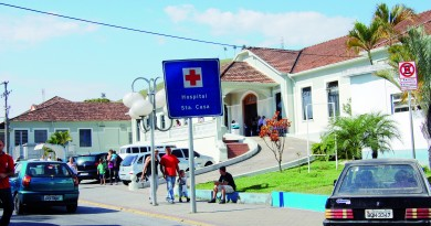 A Santa Casa de Aparecida, que deixa de gerenciar o trabalho no atendimento do Pronto Socorro da cidade (Foto: Arquivo Atos)