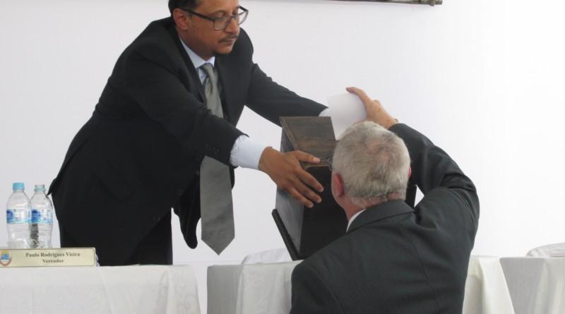 O vereador Paulo Vieira, autor da proposta que pede aumento no número de cadeiras na Casa (Foto: Arquivo Atos)