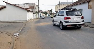 Trecho na Vila Hepacaré, em Lorena, onde policiais militares trocaram tiros após briga de trânsito; caso passa por investigação da Polícia Civil (Foto: Lucas Barbosa)