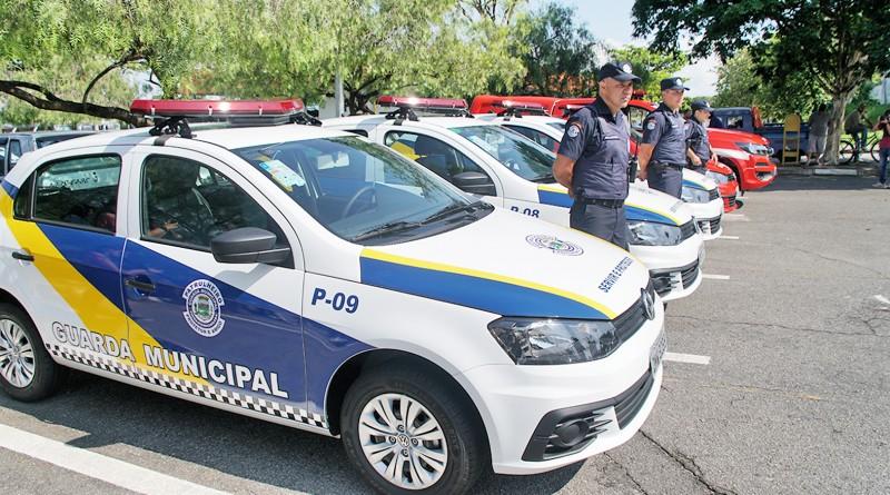 Viaturas da Guarda Municipal fazem parte da frota entregue na última segunda-feira em Pindamonhangaba (Foto: Arquivo Atos)