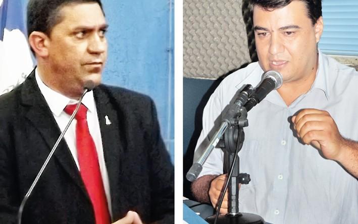 O prefeito Edson Mota e o vereador Professor Danilo; requerimento cobra medida sobre respostas (Fotos: Arquivos Atos)
