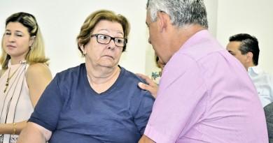A prefeita Teca Gouvêa, durante encontro do PSB, em Guaratinguetá (Foto: Leandro Oliveira)