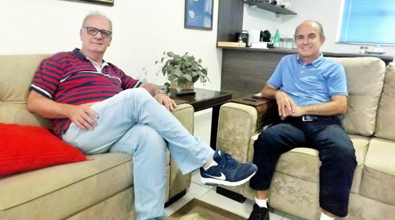 Eder Billota e o professor Sylvio Balerini
