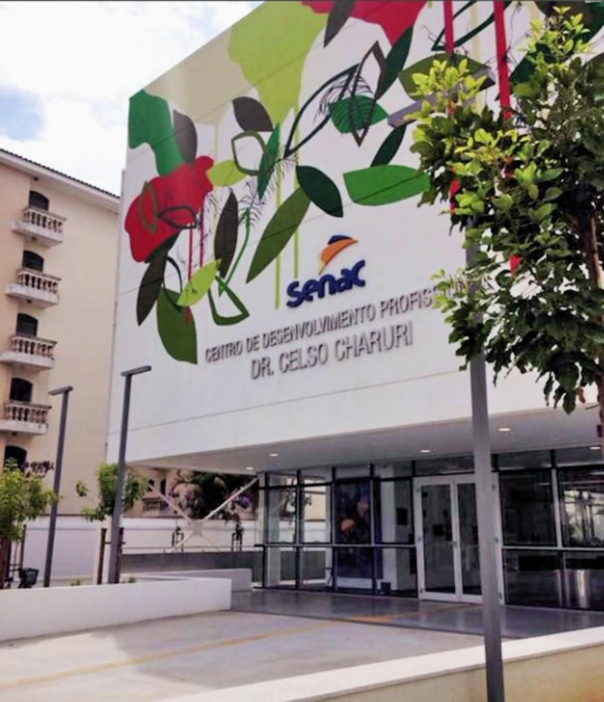 A nova sede do Senac, em Pinda, que já abriu inscrições para cursos (Foto: Divulgação)