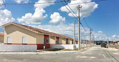 Paralisadas desde 2012, unidades do conjunto habitacional São José foram retomadas na última segunda-feira em Cachoeira Paulista  (Foto: Jéssica Dias)