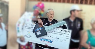Luiz Lopes da Silva, vítima de latrocínio no bairro do Olaria, um ano após receber R$ 100 mil em premiação (Foto: Reprodução)