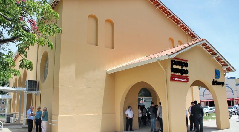 A atual sede do Poupatempo, no bairro do Pedregulho, em Guaratinguetá; Prefeitura prepara mudança (Foto: Arquivo Atos)