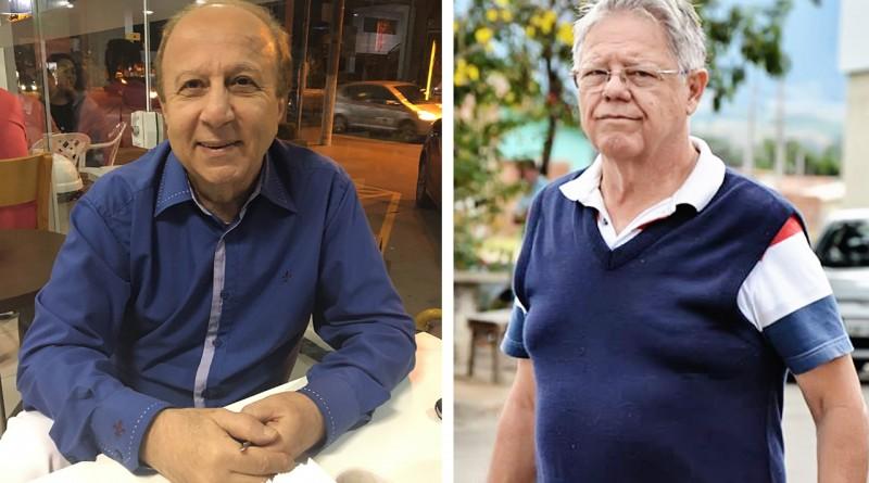 O ex-secretário de Educação, Elcio Vieira (à dir.) e o ex-prefeito Paulo Neme (à esq.); contratos condenados (Fotos: Arquivos Atos)
