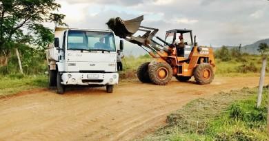 Obras na estrada vicinal de Monjolinho em Pinda; planejamento da Prefeitura deve atender estradas da zona rural (Foto: Divulgação)