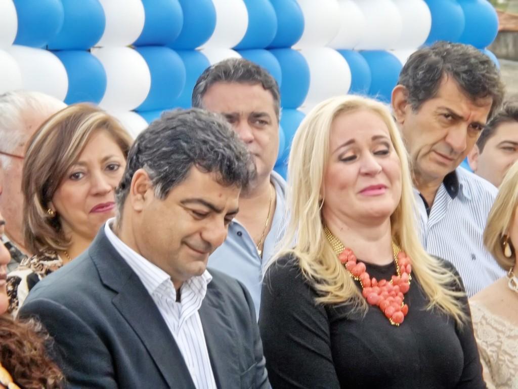 A ex-prefeita Ana Karin e seu vice Rafic Simão; mandato acumula três contas rejeitadas na Câmara (Foto: Arquivo Atos)