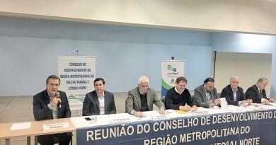 Soliva e Vitão (da esquerda para a direita) os novos vice e presidentes da RMVale, eleitos na última quarta-feira (Foto: Julliana Aguilera)