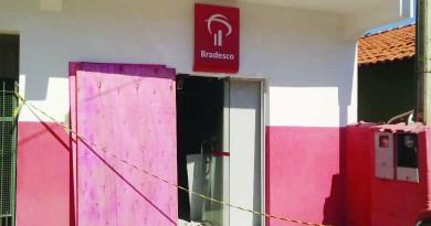 Agência do banco Bradesco, alvo da ação de criminosos em Silveiras; ocorrências se repetem na região (Foto: Divulgação)