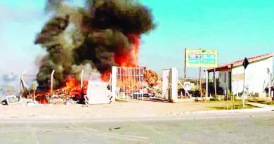 Um dos incêndios que atingiram unidades do PEV, em Guaratinguetá; quarta ocorrência aumenta cobrança por reforço na segurança do local (Foto: Arquivo Atos)