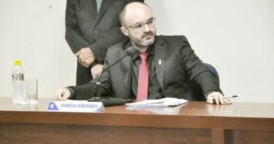 O presidente da Câmara de Aparecida, Marcelo Marcondes, que recebeu denúncia contra Dudu Reis (Foto: Reprodução)