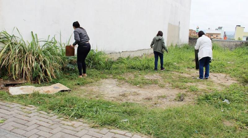 A equipe da Prefeitura durante um dos arrastões em prol da limpeza e focos de criadouro do Aedes aegypt (Foto: Divulgação)