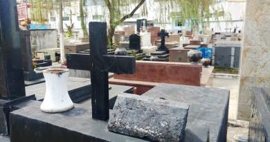 Cemitério Santa Rita, em Aparecida; denúncia de comércio ilegal de sepulturas é investigado por CPI aberta na Câmara, nesta semana (Foto: Rafael Rodrigues)