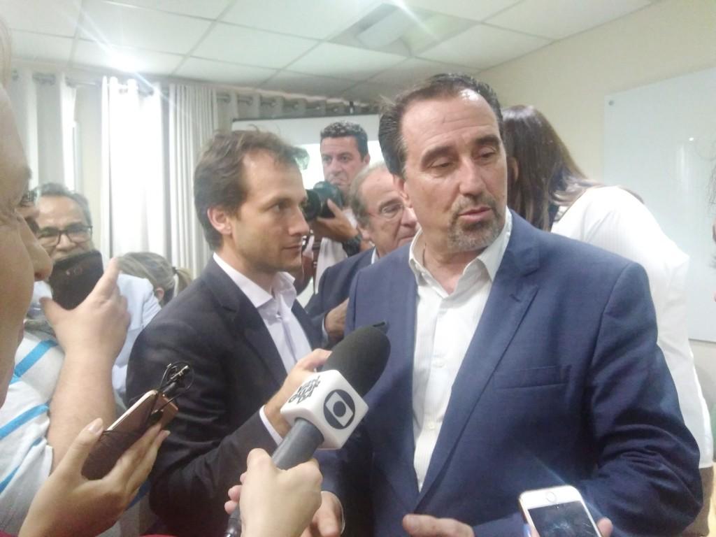 O ministro da Saúde, Gilberto Occhi, que anunciou aporte para Guará e falta de projeto em Aparecida (Foto: Leandro Oliveira)