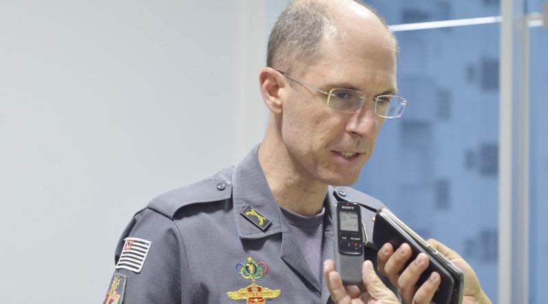 O coronel Lourival da Silva Júnior, que assumiu a PM do Vale em junho (Foto: Leandro Oliveira)