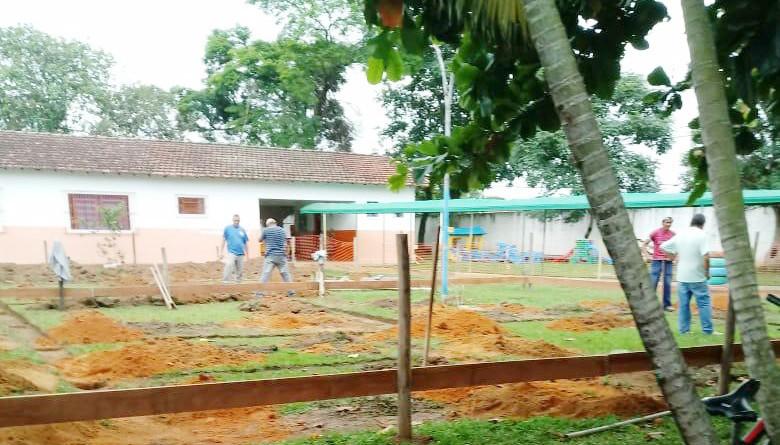 Obra de ampliação de escola no Jardim Vista Alegre, em Pindamonhangaba; Prefeitura espera ampliar atendimento na rede pública municipal (Foto: Divulgação PMP)
