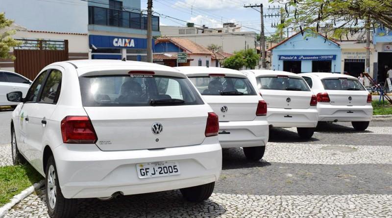 Veículos entregues para o atendimento de pacientes na Saúde de Potim; Silveiras também é atendida (Foto: Divulgação PMP)
