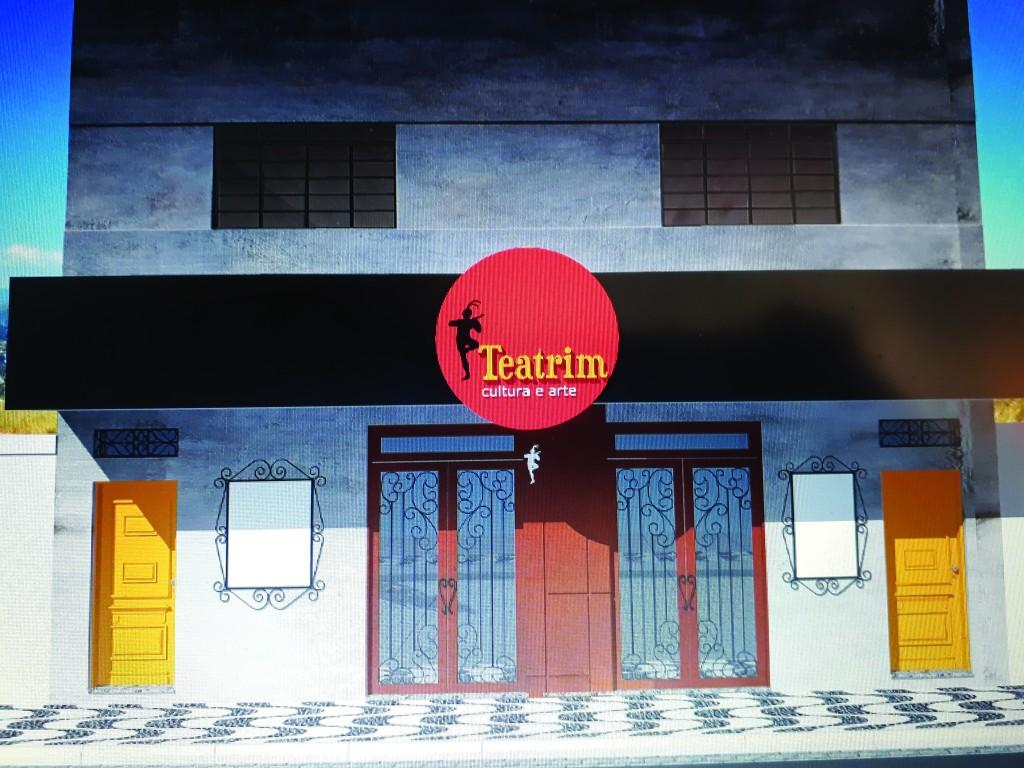 Projeção da futura sede do Teatrim, ao lado do Mercado Municipal; obra será entregue até fevereiro (Foto: Divulgação)