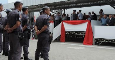 Cerimônia de inauguração da nova sede do 23º BPMI; unidade concentrará os trabalhos em prol das 17 cidades atendidas (Foto: Rafaela Lourenço)