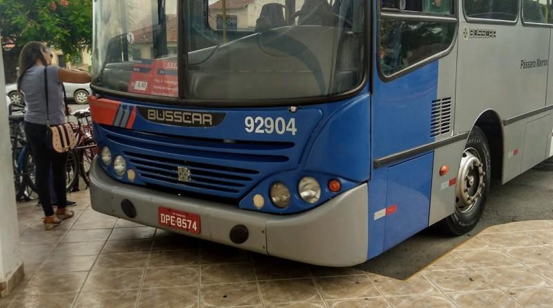 Ônibus que faz linha Guará-Lorena; aumento de passagens preocupa (Foto: Lucas Barbosa)